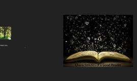 characteristics of a good reader