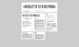 INEQUALITY OF SEX IN FILMS