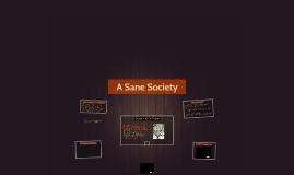 A Sane Society