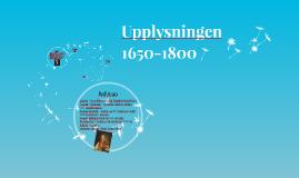 Upplysningen 1650-1800