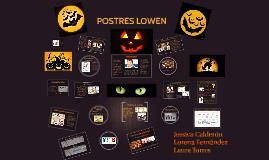 POSTRES LOWEN
