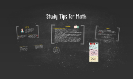 Study Tips for Math