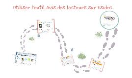 Utiliser l'outil Avis des lecteurs dans Esidoc