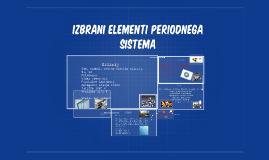 izbrani elementi periodnega sistema
