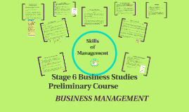 Business Management - Skills of Management