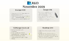 R&D novembre 2009