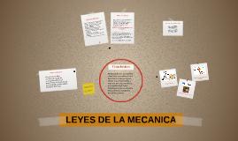 LEYES DE LA MECANICA
