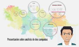 Presentación sobre análisis de la estructura de dos campañas
