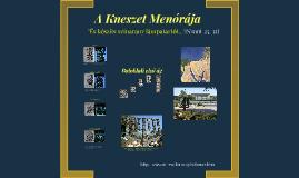 A Kneszet Menórája (Schöner A.)