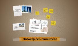 TL3 - Ontwerp een monument