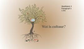 1HV H4 P2 Wat is cultuur?