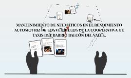 MANTENIMIENTO DE NEUMÁTICOS EN EL RENDIMIENTO AUTOMOTRIZ DE