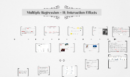 Copy of Multiple Regression - II; Interaction Effects