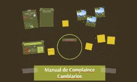 Manual de Complaince Cambiarios