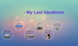 Copy of My Last Vacations