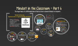 Mindset in the Classroom - Part 6