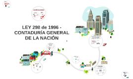 LEY 298 de 1996 - CONTADURÍA GENERAL DE LA NACIÓN