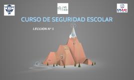 CURSO DE SEGURIDAD ESCOLAR