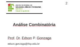 Análise Combinatória 2