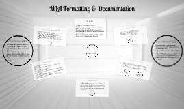 MLA Formatting & Documentation