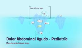 Dolor abdominal agudo - Pediatría