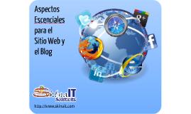 Recomendaciones para el sitio web y el blog