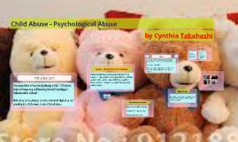 Child AbusePsychological Abuse