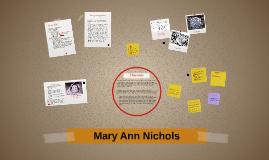 Mary Ann Nichols- Victim of Jack the Ripper
