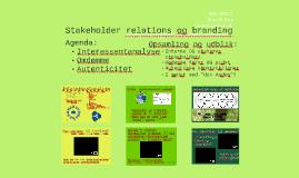 Stakeholder relations og branding