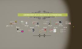 CRONOLOGIA DE LA HISTORIA DE LA PUBLICIDAD