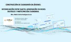 CONSTRUCCIÓN DE CIUDADANÍA EN JÓVENES: INTERRELACIÓN ENTRE S