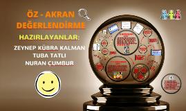 Copy of Öz - Akran Değerlendirme