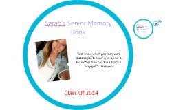 Sarah's Senior Memory Book