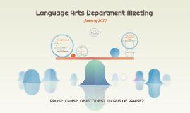 Language Arts Department Meeting