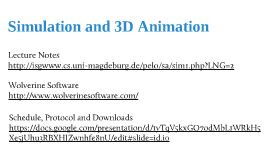 Simulation und 3D-Animation