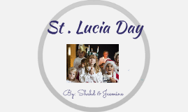 St. Lucia day celebration
