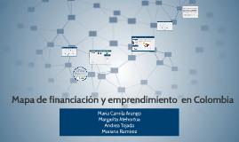 Mapa de financiación y emprendimiento  en Colombia