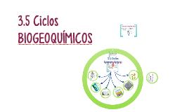 3.5 Ciclos biogeoquímicos