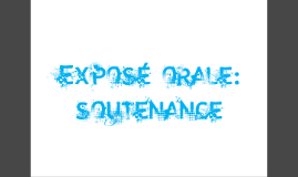 Copy of exposé orale:soutenance