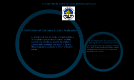Changes Made in the Customs Brokers profession