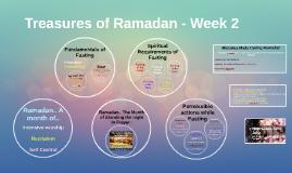 Treasures of Ramadan - Week 2