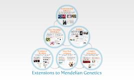 Chapter 14-2:  Extensions to Mendelian Genetics