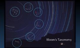 CMY 102:  Bloom's Taxonomy