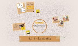 4.1.1 - La familia