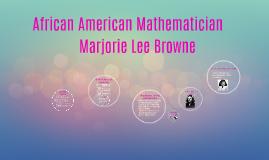 African American Mathematician