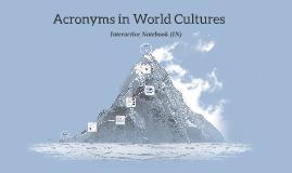 Acronyms in History/Social Studies