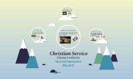Christian Service Semester 2 2k15