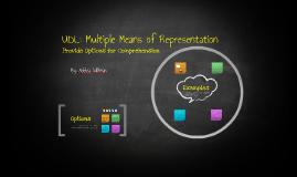 UDL: Multiple Means of Representation