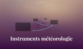 Instruments météorologie