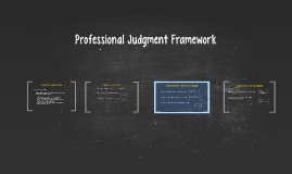 Copy of Professional Judgment Framework